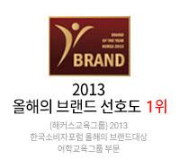 2013 올해의 브랜드 선호도 1위